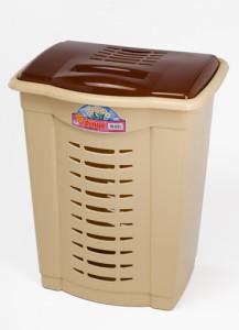 Пластиковая корзина для белья - бюджетный вариант убрать с глаз  грязное белье