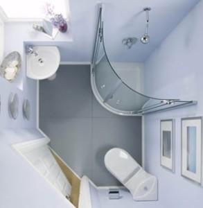 ванная с угловой душевой кабиной