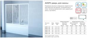 AVDP3 дверь для ванны