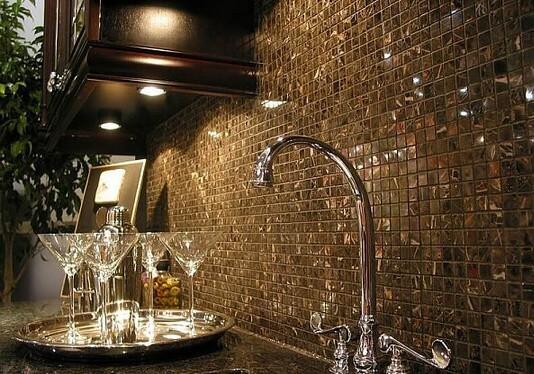 Кухонный фартух из мозайики