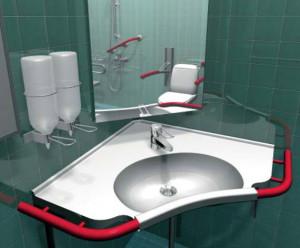 Угловая раковина для ванной