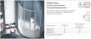 VDKP4  шторка для ванны четырехэлементная