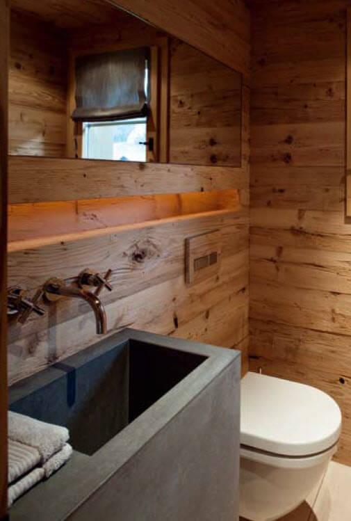 гостевой санузел в деревяном доме