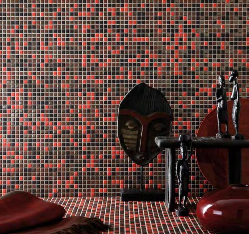 Изящная отделка пола и стен мозаикой