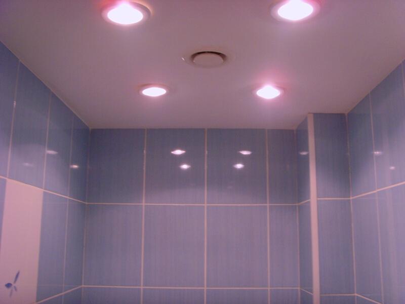 светодиодные светильники потолочные в ванную