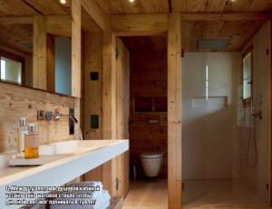 ванная комната в деревяном доме