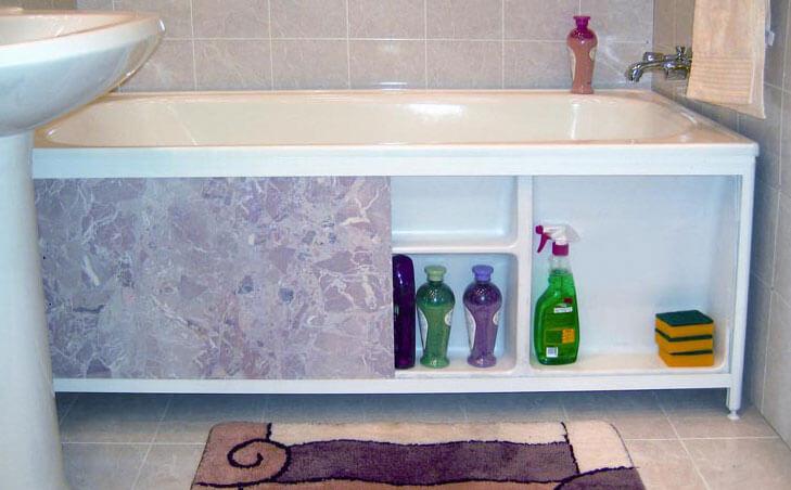 Боковая панель для ванной своими руками 48