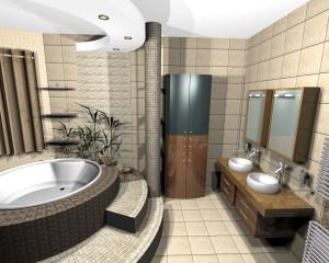 Проект ванной в деловом стиле