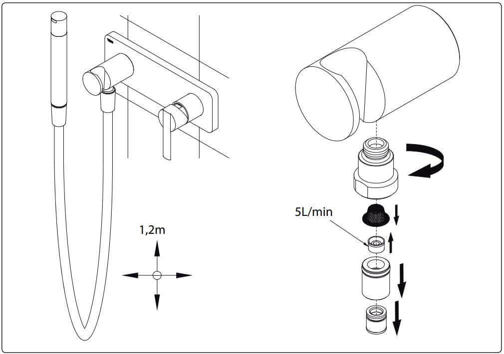 Инструкция по уходу за краном для биде