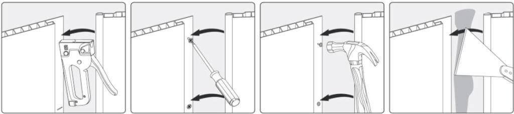 Способ крепления панели ПВХ прямо на поверхность