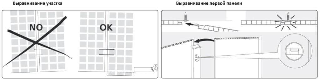 Выравнивание пластиковых панелей