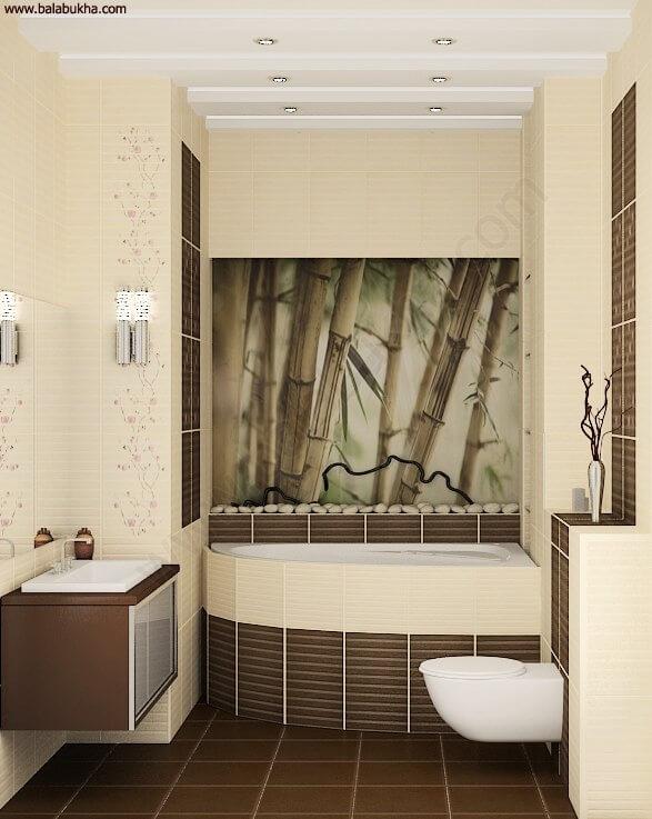 Дизайн ванной комнаты и туалета в восточном стиле