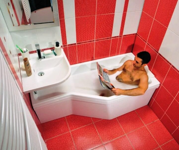Дизайн очень маленькой ванной комнаты и туалета