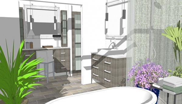 Дизайн-проект ванной, создан для релаксации