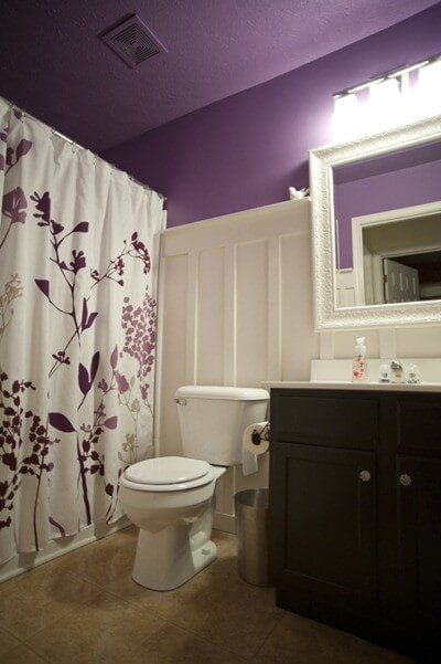 Фиолетовая ванная комната фото - 30
