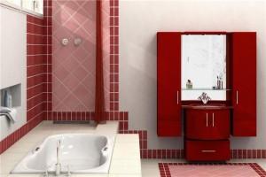 мебель для ванной комнаты красная