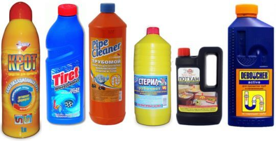 Химический способ прочистки унитаза