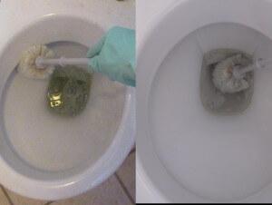 Как легко очистить унитаз