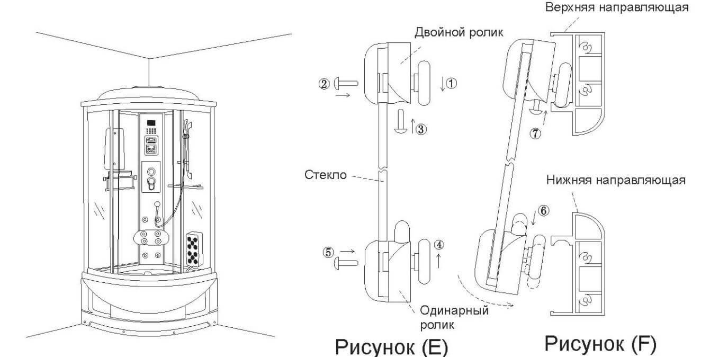 Установка раздвижной стеклянной двери и роликов