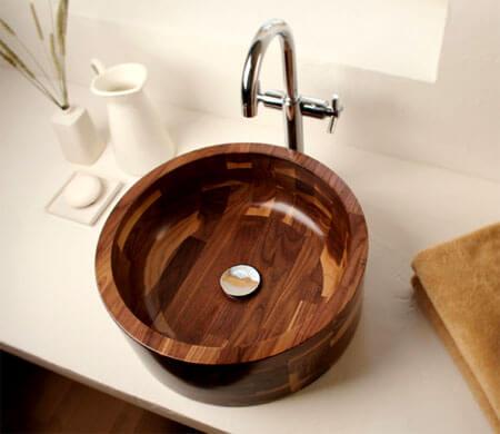 Деревянные раковины для ванн