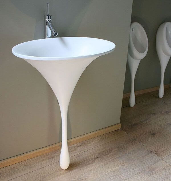 Креативный дизайн раковины тюльпан